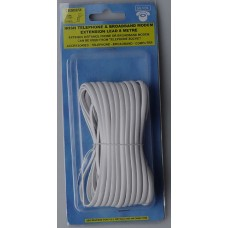 Silver 8 Metre Extension Lead