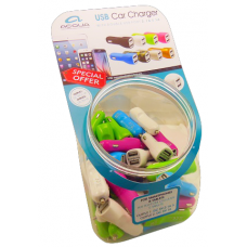 Acqua Double USB Car Adaptor Jar 50