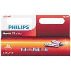 Philips Pack of 12 AAA Batteries