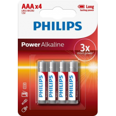 Philips Pack of 4 AAA Batteries-LR03