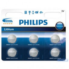 Philips CR2032 Button Cell (Card of 6)