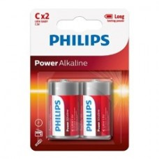 Philips Pack of 2 C Batteries-LR14