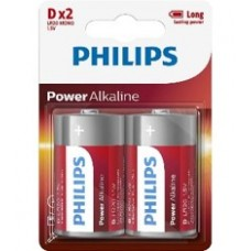 Philips Pack Of 2 D Batteries-LR20