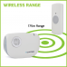 Lloytron MIP3 - DingDong Battery Operated Portable Door Chime Kit - White