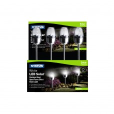 Lilydale 6.3cm LED Solar Open Flame Effect Stake Light, Stainless Steel , Colour CDU