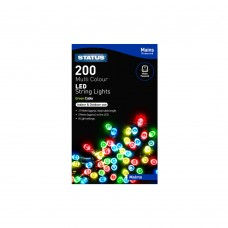 Malmo 200 Multi Coloured LED Indoor/Outdoor Mains Powered String Lights