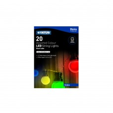 Orebro 20 LED Assorted Colour Indoor/Outdoor Mains Powered String Lights