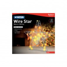 Steyr 30 Warm White LED Indoor Battery Operated Wire Star