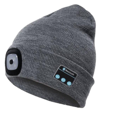 Homesound LED Rechargeable Bluetooth Beanie with Built-In Light