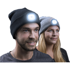 Ultralight LED Beanie-Grey/Black