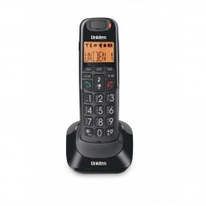 Uniden AT4105 Big Button Big Numbers and Audio Boost Cordless Phone Black