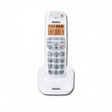 Uniden AT4105 Big Button Big Numbers and Audio Boost Cordless Phone White