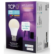 TCP Smart Wi Fi LED & RGBW B22 Classic Light Bulb- Colour Changing
