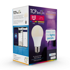 TCP Smart Wi Fi LED 2700 & RGB E27 Classic Bulb Colour Changing