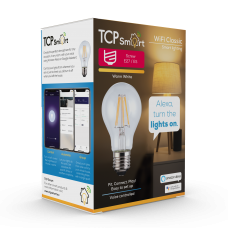 TCP Smart WiFi LED Filament 2700K Dimmable Classic E27 light bulb