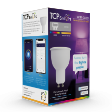 TCP Smart WiFi LED RGBW 2700K GU10 spot light